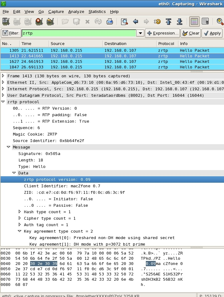 Wireshark screen shot